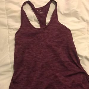 Purple work out tank top
